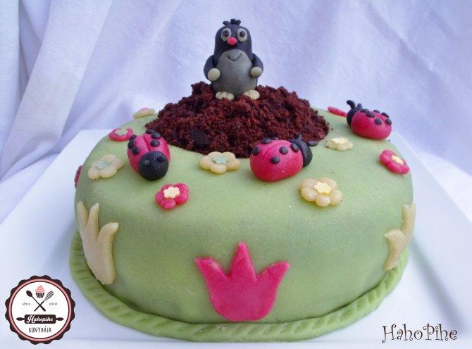 kisvakond torta