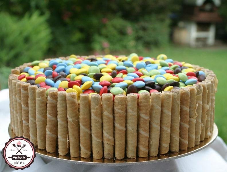 egyszerű szülinapi torta gyerekeknek Smarties torta (vaníliakrémmel) | HahoPihe Konyhája   Receptneked.hu egyszerű szülinapi torta gyerekeknek